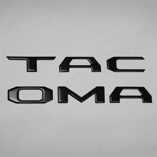 2016 2018 Toyota Tacoma Matte Black Tailgate Logo Insert 6