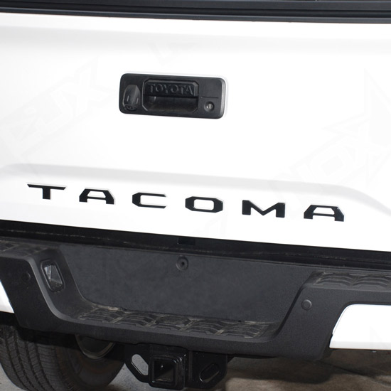2016 2018 toyota tacoma matte black tailgate logo insert 6. Black Bedroom Furniture Sets. Home Design Ideas