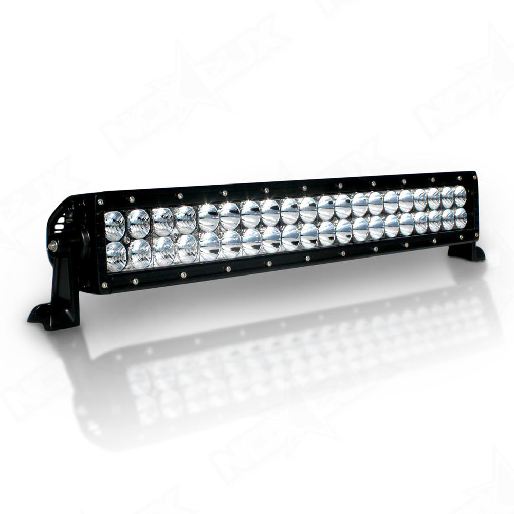 dual row 20 led light bar 20 in led light bars nox lux. Black Bedroom Furniture Sets. Home Design Ideas
