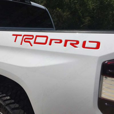2015-2017 Tundra TRD Pro Bed Inserts Matte Red - Nox Lux