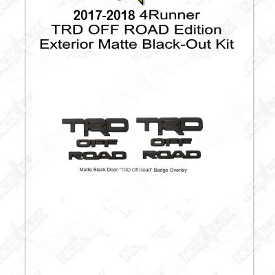 2010 2016 4 Runner Black Out Kit