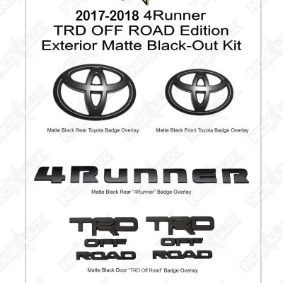4Runner 2017-2018 TRD Off Road Black Out Kit Shadow Sheet - Nox Lux