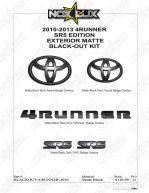 2010-2013 4Runner SR5 Black Out Kit Shadow Sheet - Nox Lux