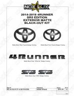 2014-2018 4Runner SR5 Black Out Kit Shadow Sheet - Nox Lux