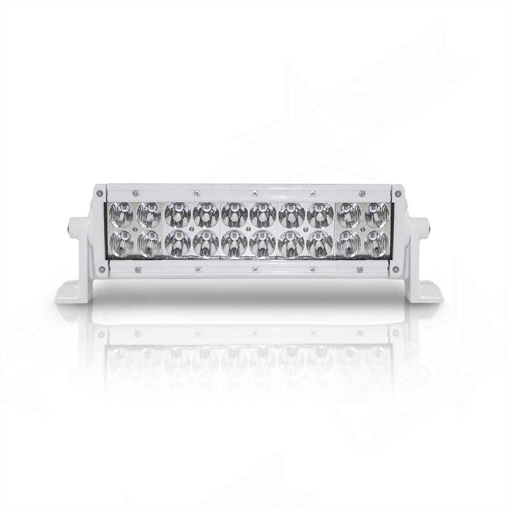 10 Marine Series Dual Row Led Light Bar Nox Lux Fuse Box Covers Inch