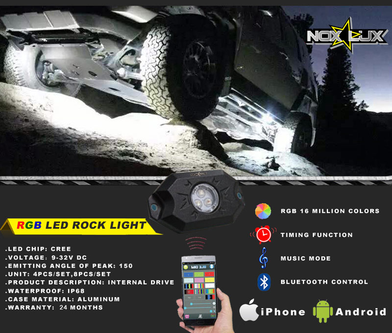 RGB Rock Light Kit Details