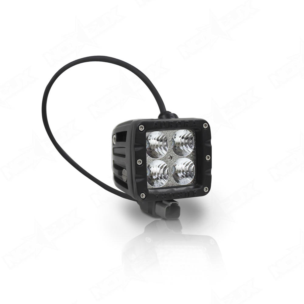 2 Led Cube Lights Flood Beam 40w Nox Lux Off Road Wiring Diagram For Anzo Inch Pod