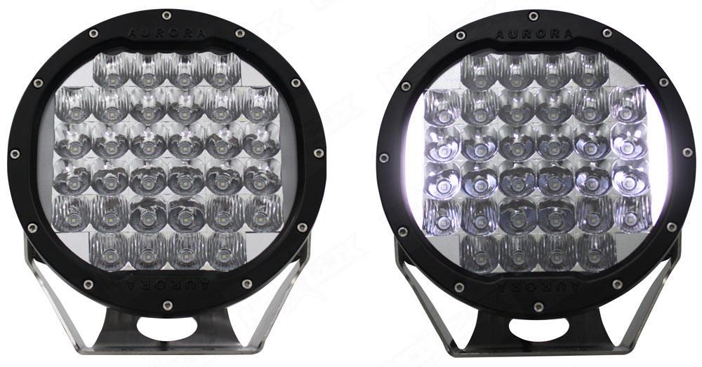 Superior Aurora 7 Inch Round Light BG Front   Nox Lux Good Ideas