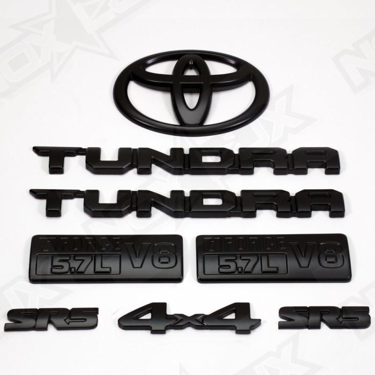 2014 2017 toyota tundra sr5 emblem overlay black out kit. Black Bedroom Furniture Sets. Home Design Ideas