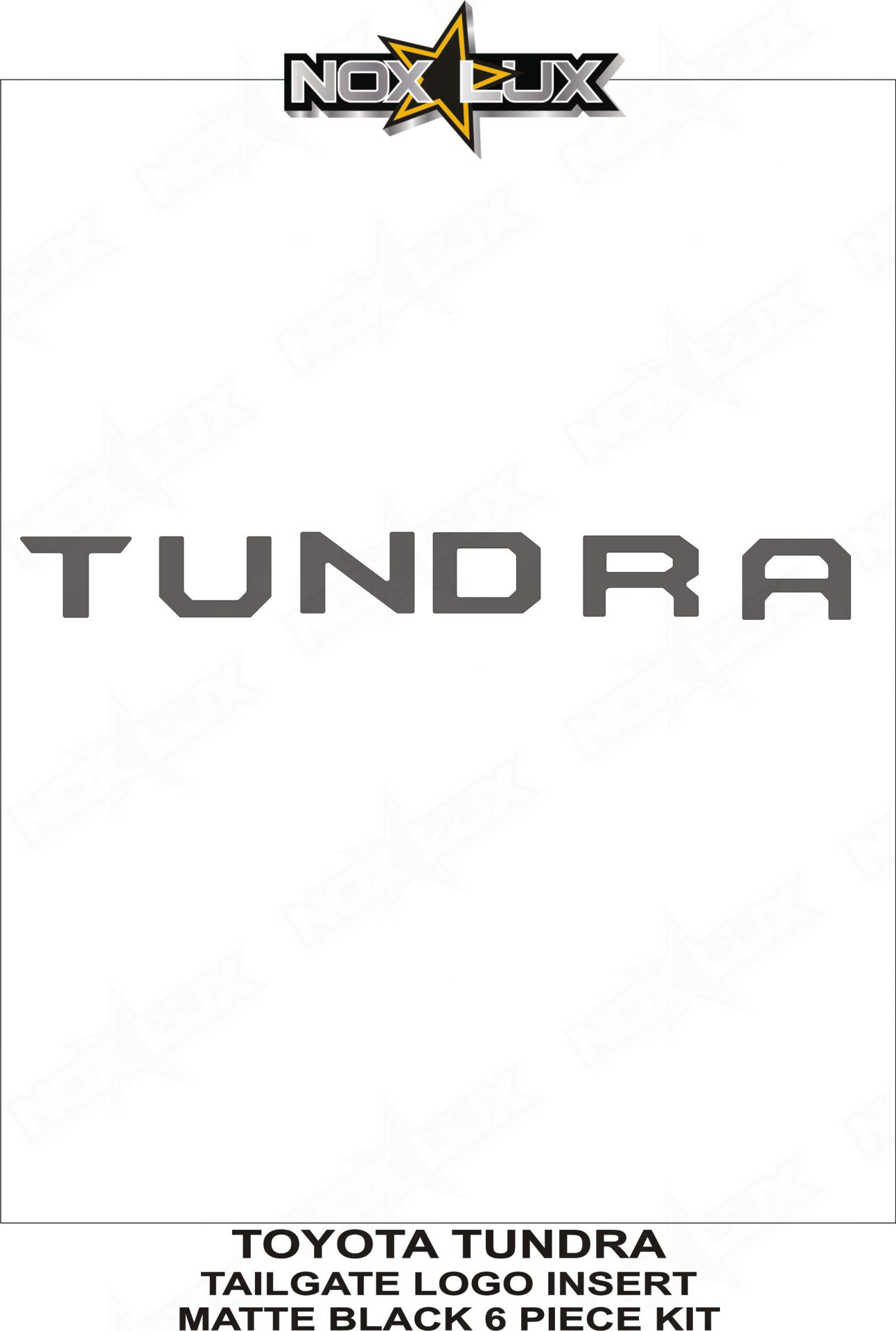 toyota tundra logo vector. tundra tailgate logo insert matte black shadow sheet nox lux toyota vector t