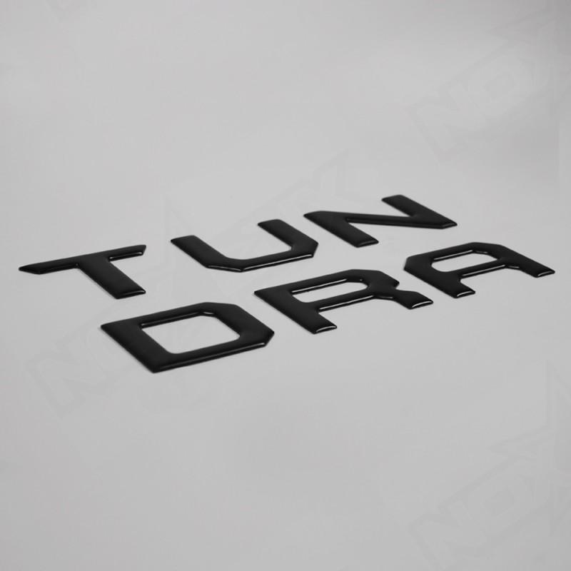 Matte Black Tailgate Insert for Toyota Tundra 2014 2015 2016 2017 - Nox Lux