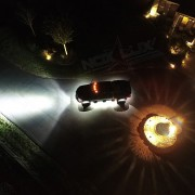 8 White Mini Rock Lights On Dodge