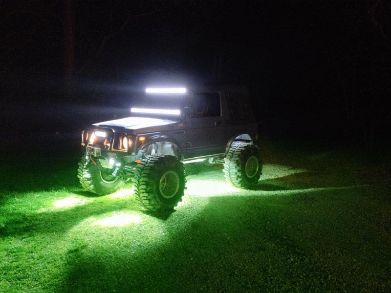 New 2 Mini Rgb W Led Rock Crawl Light Kit