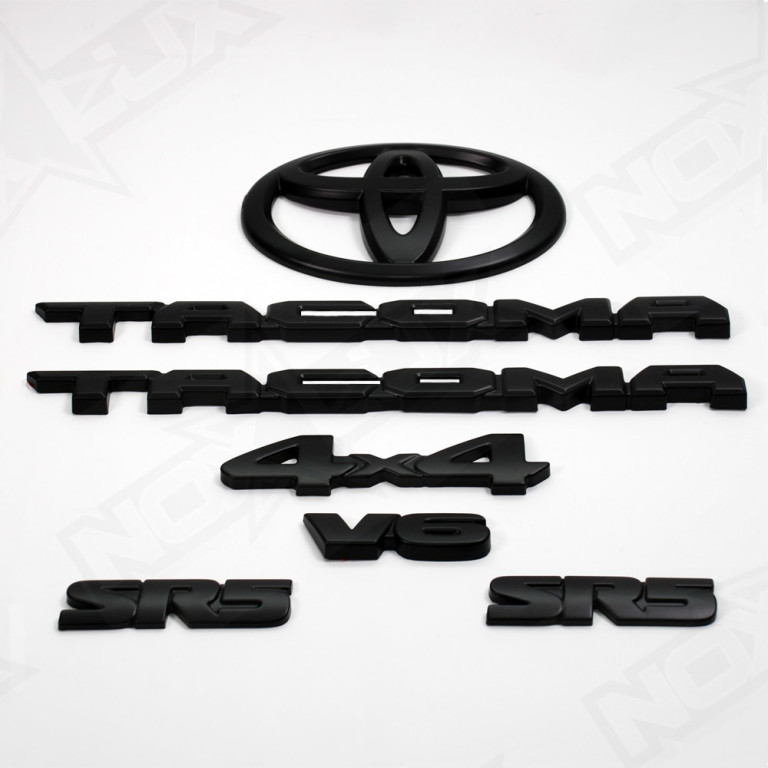 Blacked Out Corolla >> 2016-2017 Toyota Tacoma Black Out Emblem Overlay Kit - Nox Lux
