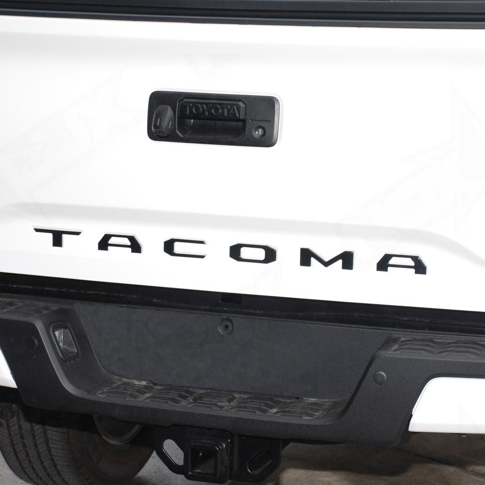 Tacoma Matte Black Tailgate Logo Insert