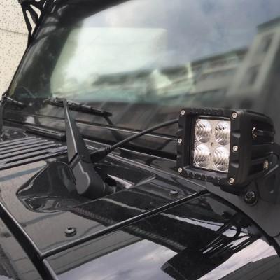 Jeep Windshield Hinge Lower Corner Brackets