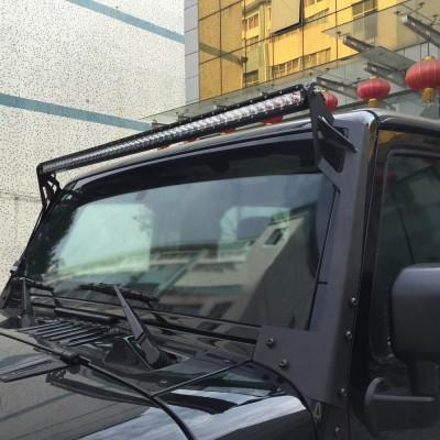 Jeep Wrangler Windshield Mounting Bracket – 50″ LED Bar