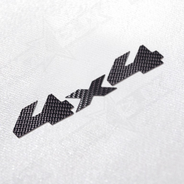 4x4 Real Raw Carbon Fiber Logo Decal - Nox Lux