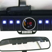 Installed Jeep JK 6 Switch Control Panel System - Nox Lux