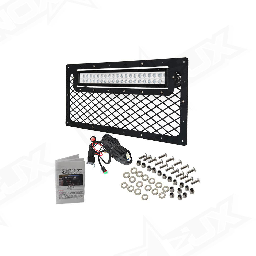 2007-2016 Jeep Wrangler JK Black Out LED Grille Kit - Nox Lux