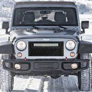 Jeep JK Flat Grille Kit Black Out In Winter - Nox Lux