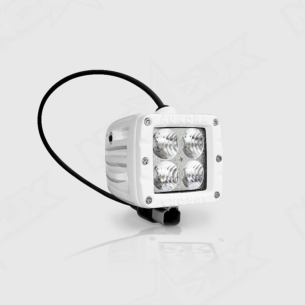 Aurora 2 Inch Marine White LED Flood Beam 40 Watt - Nox Lux