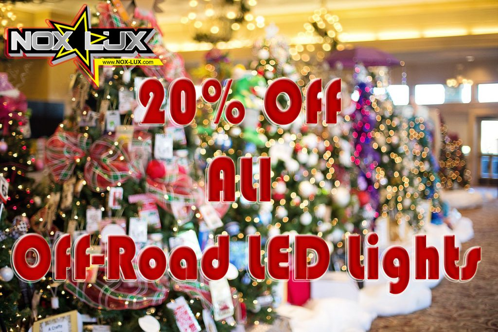 2016 Christmas Sale on 4x4 LED Lights