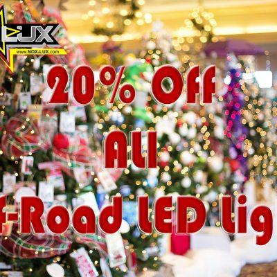 2016 Christmas Sale on 4x4 LED Lights