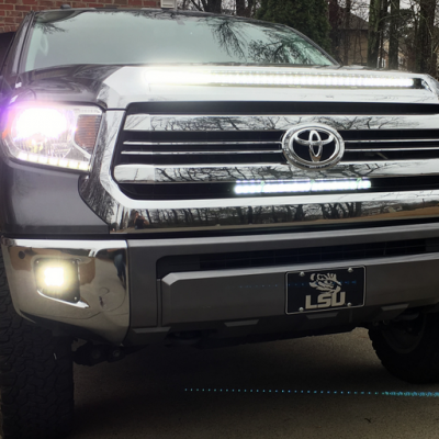 How To Install A Hidden 40 Inch LED Light Bar In The Hood Of A Toyota Tundra