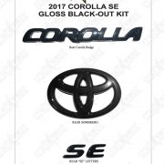 2017 Corolla SE Black Out Shadow Sheet - Nox Lux