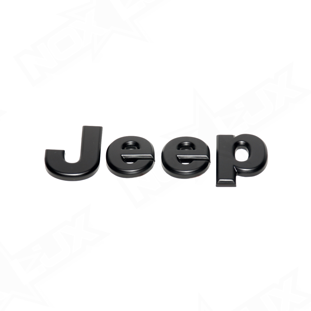 Jeep Halo Headlights >> 2007-2017 Jeep Wrangler JK Matte Black Emblem Overlay Kit - Nox Lux