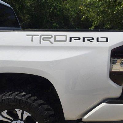2015-2017 Tundra TRD Pro Bed Inserts Matte Gun Metal Gray/Black - Nox Lux