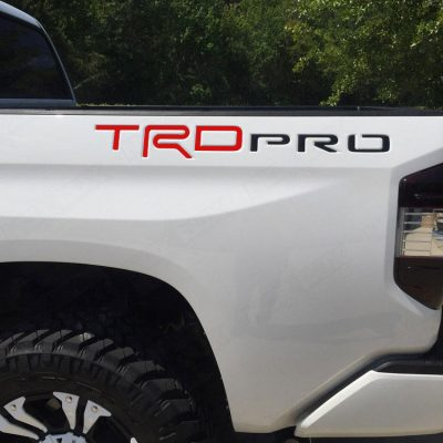 2015-2017 Tundra TRD Pro Bed Inserts Matte Red/Black - Nox Lux