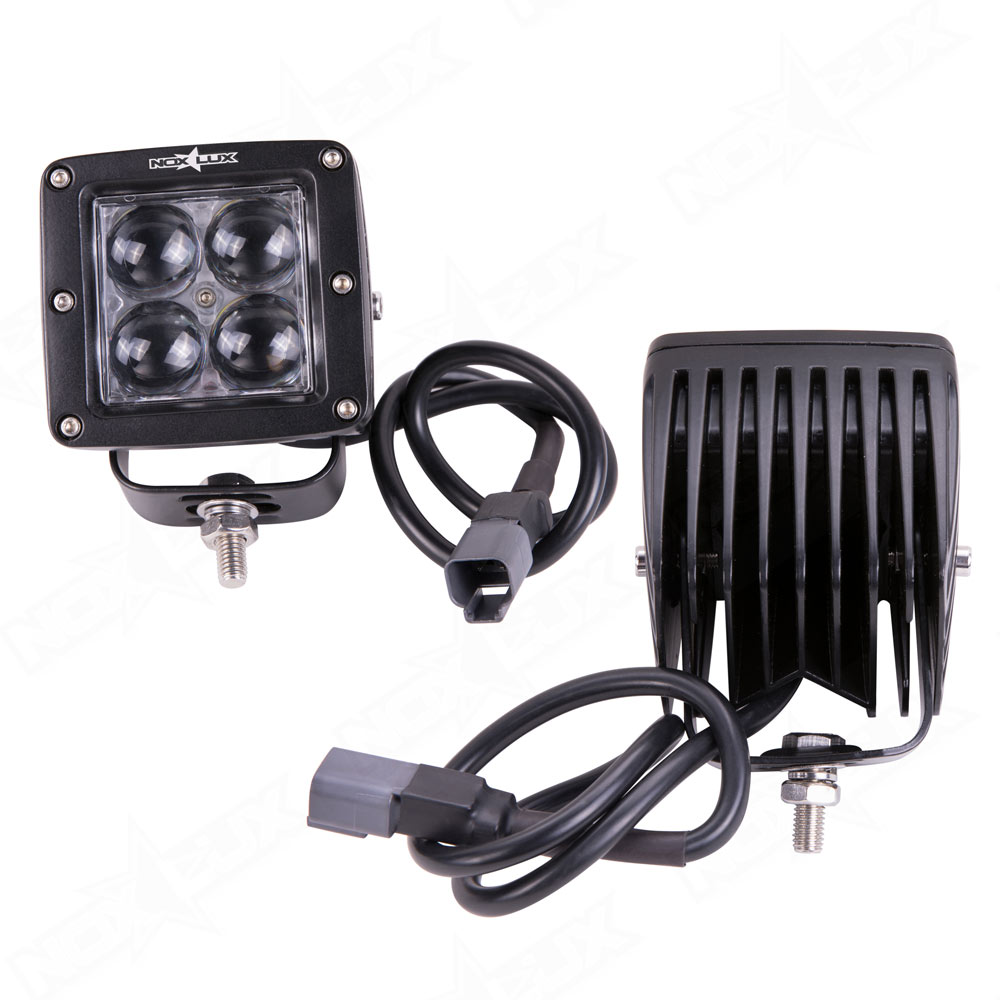 2 Inch 4d Working Light 20 Watt Spot Back - Nox Lux