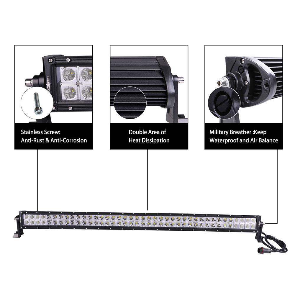 Dual Row Light Bar Details - Nox Lux