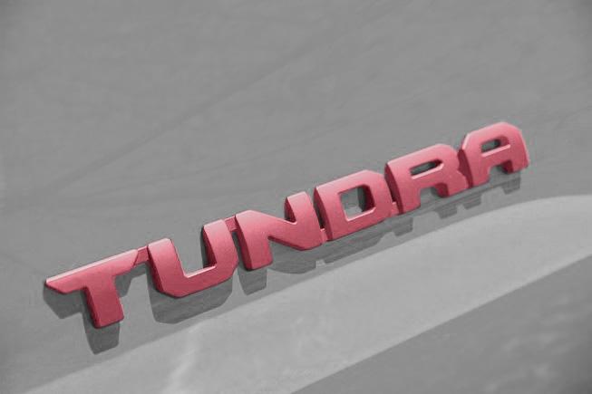 toyota tundra pink emblems