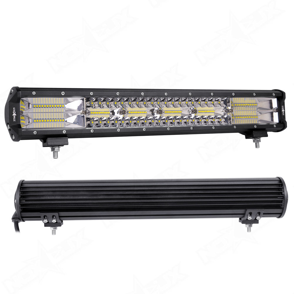 20 Inch Triple Row Light Bar Combo Back - Nox Lux