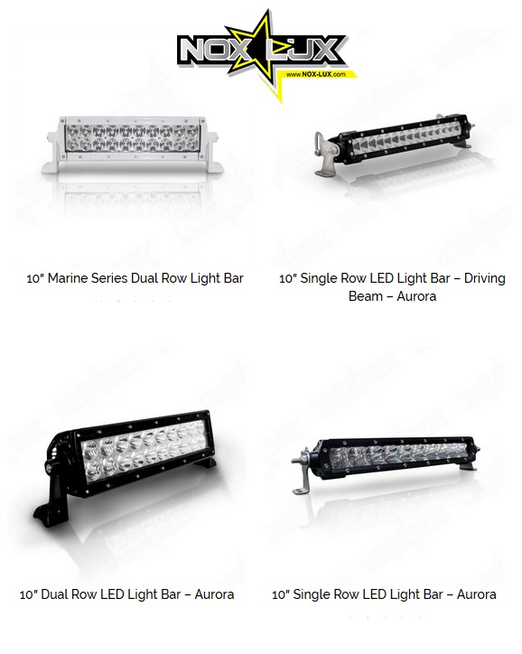 10 in LED light bars