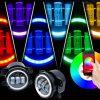 Jeep JK 7 inch RGB halo LED headlights