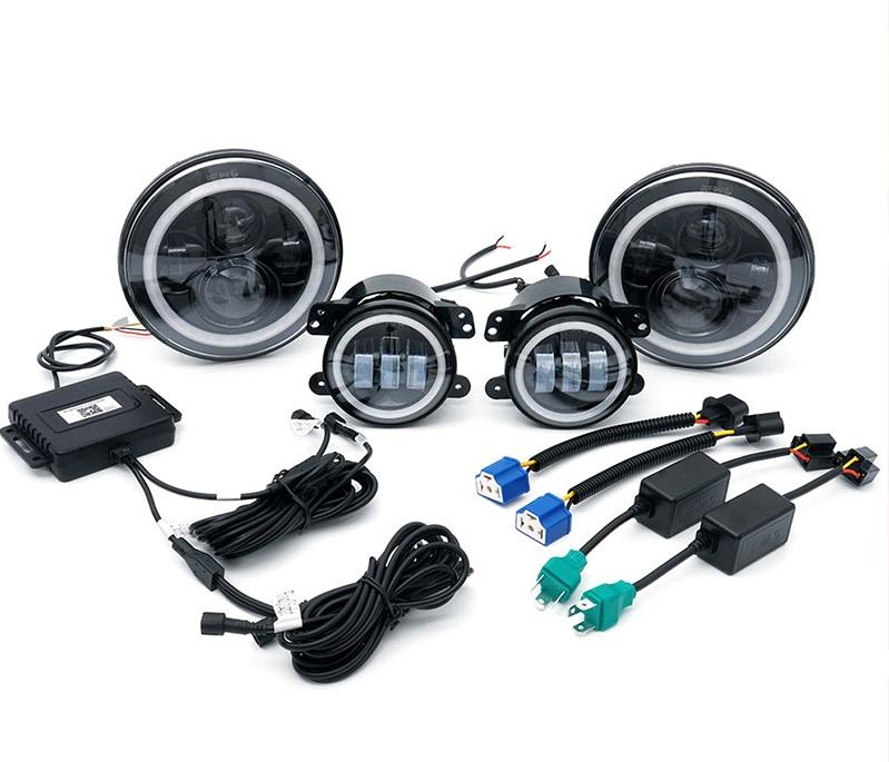RGB HALO Headlights and RGB Fog Lights Kit