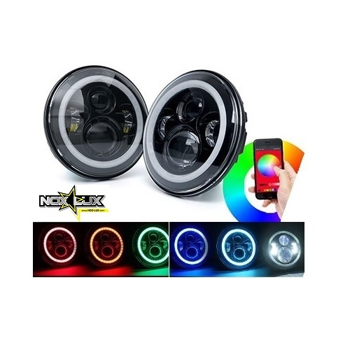 RGB halo headlight fog light kit