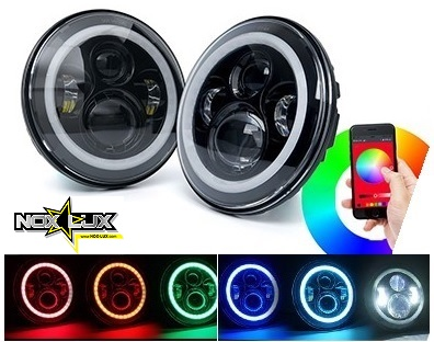 RGB halo headlights