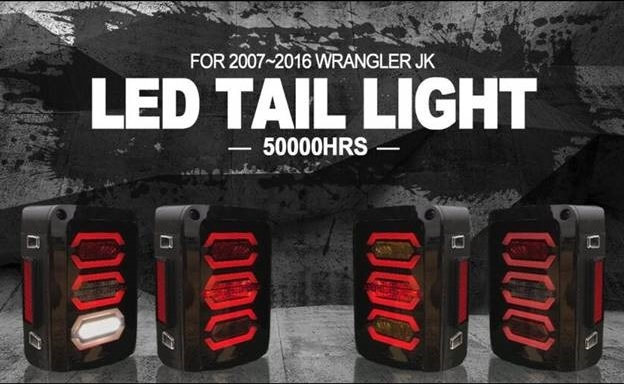 aftermarket jeep led tail lights