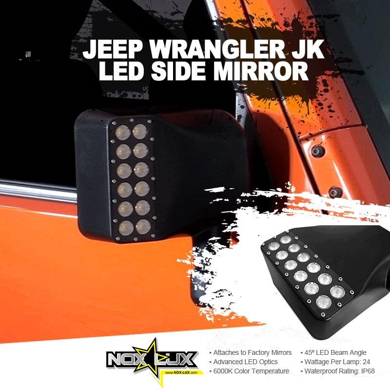 Jeep JK LED Mirror Lights w/ Turn Signal