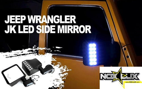 jeep jk side mirrors with led lights