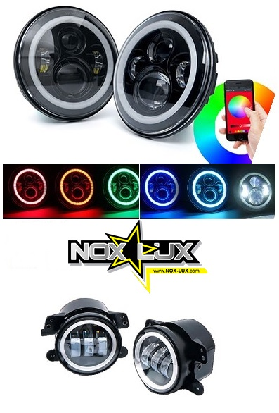 rgb-LED-head lights and RGB fog lights
