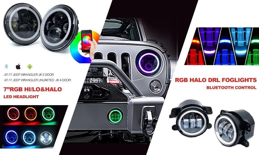 Jeep rgb-fog lights and headlights