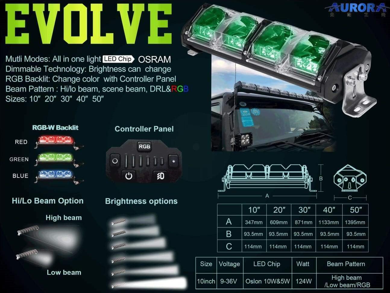 """Nox Lux """"Quantum"""" 10 Inch Adaptive LED Light Bars"""