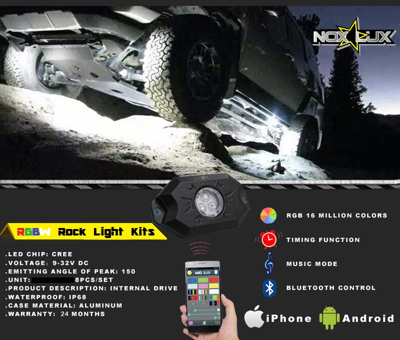 nox-lux rgbw rock light kits