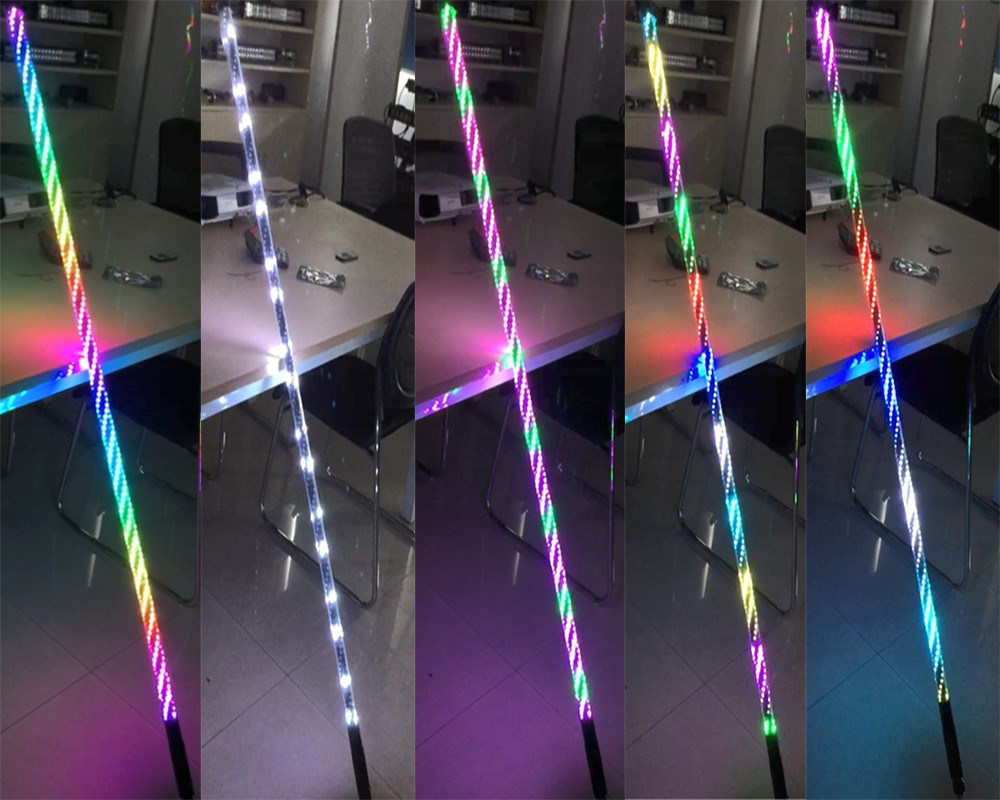 LED whip lights and LED antennas